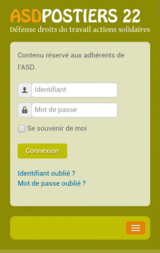 Version mobile du site Internet asd22.fr